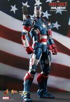 DHL EXPRESS HOT TOYS 1/6 MARVEL IRON MAN 3 MMS195D01 DIECAST IRON PATRIOT FIGURE