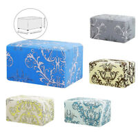Ottoman Cover Stretch Slipcovers Folding Storage Stool Cover Footstool Protector
