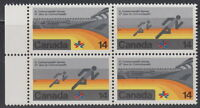 CANADA #759-760 14¢ XI Commonwealth Games Running Block of Four MNH - A