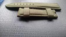 Neues Panerai Lederuhrenarmband!Grün-Canvas! 26 mm Bandanstoss!