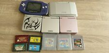 Nintendo Handheld Console Bundle Gameboy Advance And Sp And Ds Plus Games...