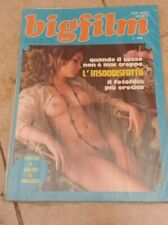 Rivista erotica BIGFILM n. 5/1975 -L'INSODDISFATTA - Fotofilm erotico + poster