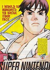 Super Nintendo SNES STREET FIGHTER ALPHA 2 video game magazine print ad page