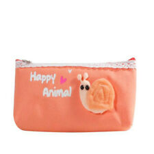 Lovely Animal Canvas Pencil Pen Pouch School Storage Holder Bag  N3