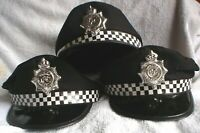 1 IMITATION POLICEMANS CAP SIZE 6 1/2 WITH TIN FOIL PC BADGE ( POLICE OFFICER )