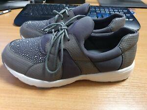 Heavenly Soles Leisure Shoes E Grey - UK6 - Womens