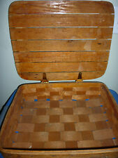 Nice Vintage Wooden Pie Basket Solid Unique Great Condition Brown Flat Wood