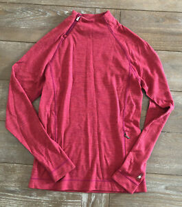 SMARTWOOL PULLOVER TOP SMALL STRIPE LONG SLEEVE MERINO WOMENS S