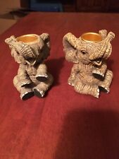 Elephants Candle Holders Set of 2