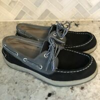 Sperry Top-Sider Boys Intrepid Boat Shoes #YB29910A blue Leather Youth Size 4M