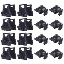 LEGO Helmets + Vests 16 Pack Army SWAT Soldier Modern Military Accessory Lot