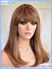 Premium Human Hair Monopart Wig P4.27 Slinky Girl Next Door Look Long  337