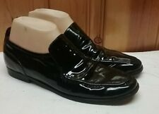 WOMENS COLE HAAN BLACK PATENT LEATHER PENNY LOAFER SIZE US 9.5 AA CASUAL DRIVING