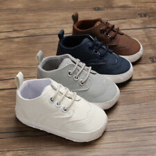 Fashion New Baby Boy Oxford Crib Shoes Pre Walker Trainers Newborn to 18 Months