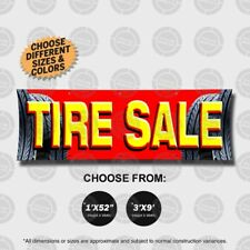 Tire Sale banner open sign auto shop wheels display poster wheels rims mechanic