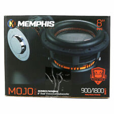 "Memphis Audio MJM822 MINI MOJO SUBWOOFER 8"" DUAL 2-OHM 1800 WATTS PEAK"