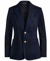 Women's Polo Ralph Lauren Indigo Denim Monogram Blazer Jacket From Japan