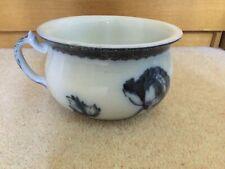 More details for vintage grimwade poppea blue & white transferware blue chamber pot - plant pot