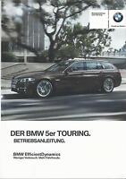 BMW 5er TOURING F11 Betriebsanleitung 2015 2016 Bedienungsanleitung Handbuch  BA