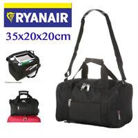 Small 35 x 20 x 20 cm Ryanair Second Cabin Hand Luggage Holdall Light Flight Bag