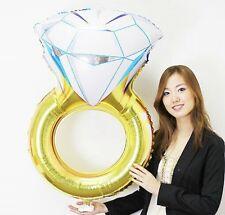 """32 """"anneau de diamants fiançailles mariage bridal shower hen night ballon décoration X"""