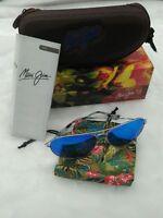 Brand New Maui Jim Mavericks Sunglasses B264-17 Silver Frame Blue Hawall