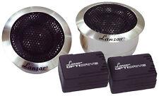 Lanzar Titanium Dome 200w Car Dash Door Tweeters Flush Mount Speakers Pair