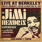 JIMI HENDRIX LIVE AT BERKELEY REMASTERED CD NEW