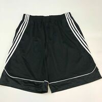 Adidas Activewear Shorts Mens 2XL XXL Black Loose Fit Side Striped Basketball
