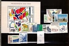 1994 MNH year set/jaargang, Noorwegen, Norway, Norge, Norwegen, Postfris