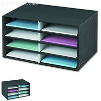 8 Slot Letter Paper Sorter Desk Office Mail File Catalog Box Storage Organizer