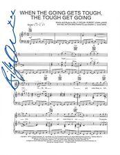 Billy Ocean singer REAL hand SIGNED 8.5x11 When Going Gets Tough sheet music COA