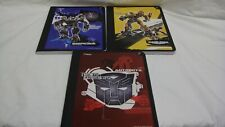 TRANSFORMERS MEAD BUMBLEBEE AUTOBOTS BARRICADE COMPOSITION BOOKS SCHOOL BTS