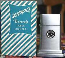 Sehr Selten Zippo Barcroft No. 4 USS Steel Green White Candy Box 1950´s RAR !