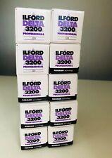 10 x Ilford Delta 3200 Professional 120 Roll Film