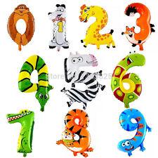 "Animal number balloon zooloon mylar 1 2 3 4 5 6 7 8 9 0 16"" 17"" 18"" 19"""