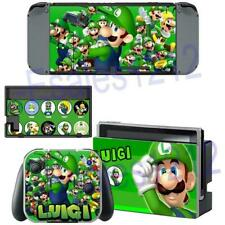 Nintendo Switch Console Joy-Con Skin Super Mario Luigi Vinyl Decal Stickers Wrap