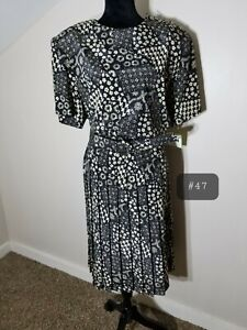 NWT Vtg 80s Plus Size Petite Dress