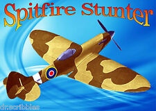 "CONTROL LINE 45"" SPITFIRE Mk -14/18/19  Semi scale STUNT Full Size printed plans"