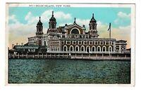 Unused Postcard Ellis Island New York NY Immigration Depot