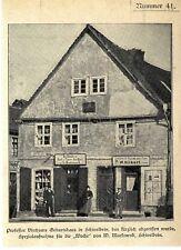 Prof. Virchows Geburtshaus in Schivelbein Pommern das kürzlich abgerissen...1899