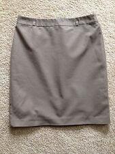 Women's VanHuesen Studio Size 10 Light Brown Fully Lined, To Knee Straight Skirt