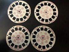 Vintage Viewmaster 4 Reels Picture Tour US, Tv+cartoon Favorites, US Cities