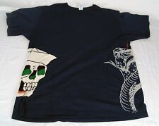 Ed Hardy Made In USA Skull Cobra T-Shirt 100% Cotton Size XXL Hand Crafted