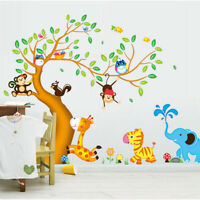 Animals Tree Monkey Removable Wall Decal Stickers Kids Baby Nursery Room B Tw