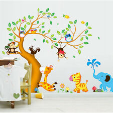 Animals Tree Monkey Removable Wall Decal Stickers Kids Baby Nursery Room、Pop