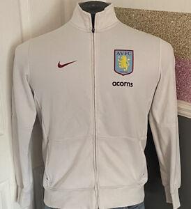 Official White Nike Aston Villa Training Jacket Size Large