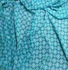 """Chiffon Fabric - Mint & White Diamond Geometric 54"""" by the yard"""
