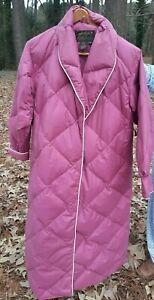 Eddie Bauer Goose Down Robe Pink Women's Small USA Made