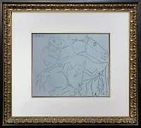 "Pablo Picasso LINOGRAVURE Limited Edition ""La Pique Cassee"" 1959 w/Frame"